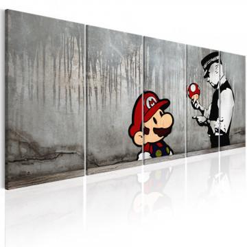 Tablou - Mario Bros on Concrete