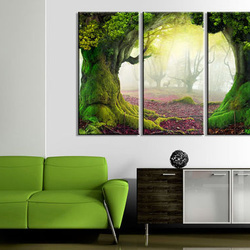 Tablou - Mysterious forest - triptych