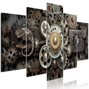 Tablou - Old Mechanism (5 Parts) Wide
