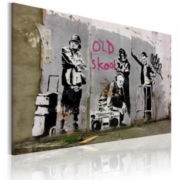 Tablou - Old school (Banksy)