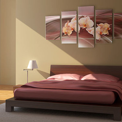 Tablou - Orchid flowers on a wavy background