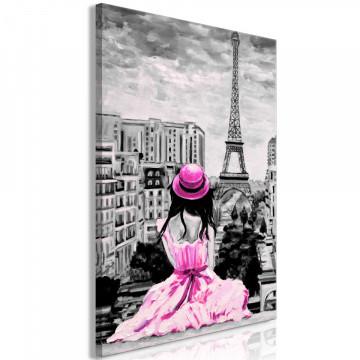 Tablou - Paris Colour (1 Part) Vertical Pink