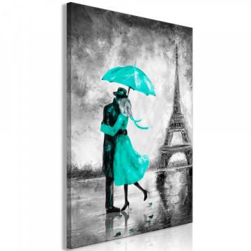 Tablou - Paris Fog (1 Part) Vertical Green