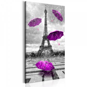 Tablou - Paris: Purple Umbrellas