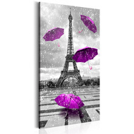 Tablou - Paris: Purple Umbrellas