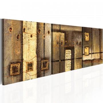 Tablou pictat manual - Gold composition