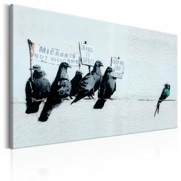 Tablou - Protesting Birds by Banksy