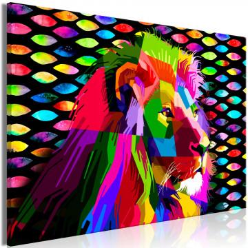 Tablou - Rainbow Lion (1 Part) Wide