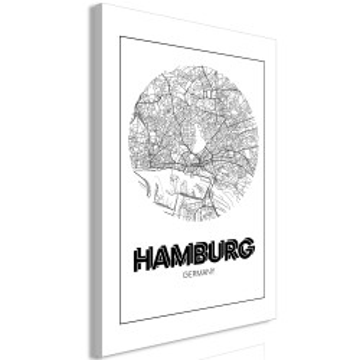 Tablou - Retro Hamburg (1 Part) Vertical
