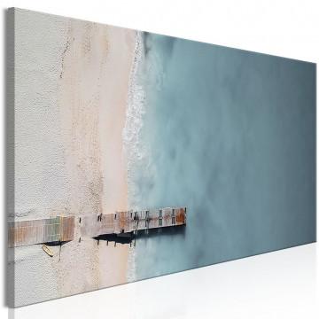 Tablou - Sea and Wooden Bridge (1 Part) Narrow Grey