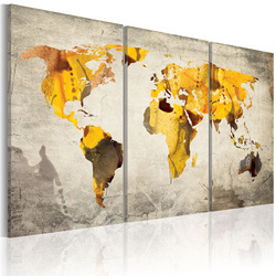 Tablou - Sunny continents - triptych