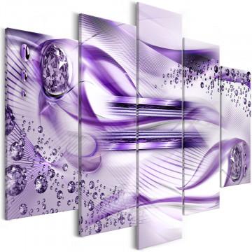 Tablou - Underwater Harp (5 Parts) Wide Violet