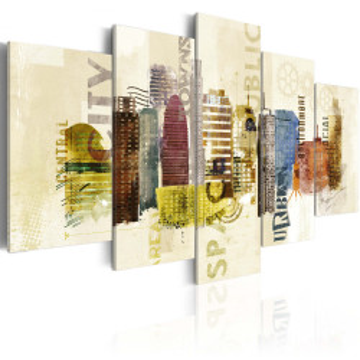 Tablou - Urban design - 5 pieces