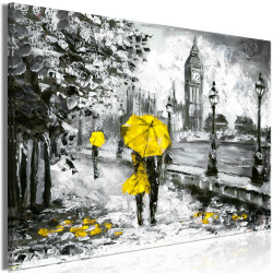 Tablou - Walk in London (1 Part) Wide Yellow