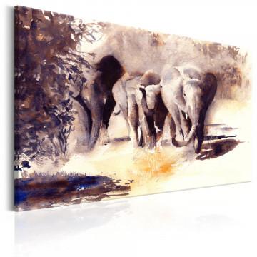 Tablou - Watercolour Elephants
