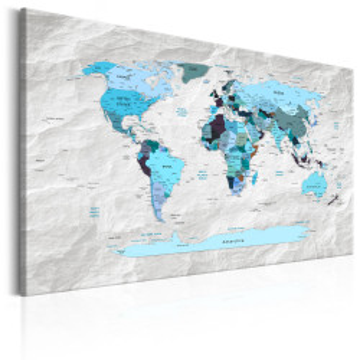 Tablou - World Map: Blue Pilgrimages