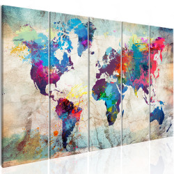 Tablou - World Map: Cracked Wall