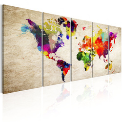 Tablou - World Map: Painted World