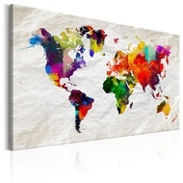 Tablou - World Map: Rainbow Madness