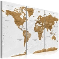Tablou - World Map: White Poetry