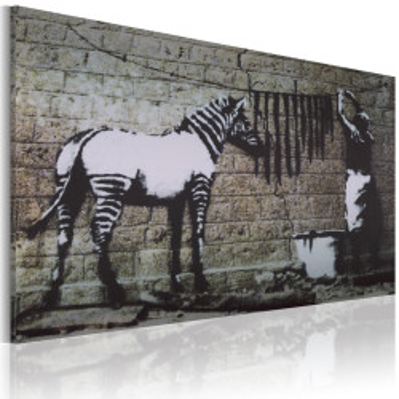 Tablou - Zebra washing (Banksy)