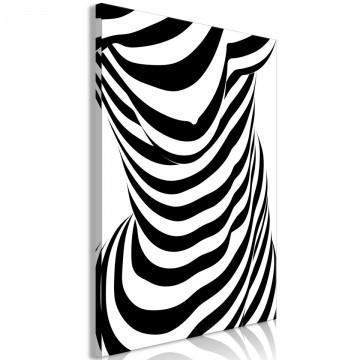 Tablou - Zebra Woman (1 Part) Vertical