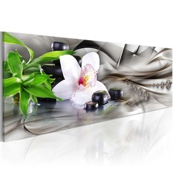 Tablou - Zen composition: bamboo, orchid and stones