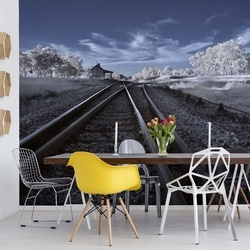 Tracks To Nowhere Photo Wallpaper Mural