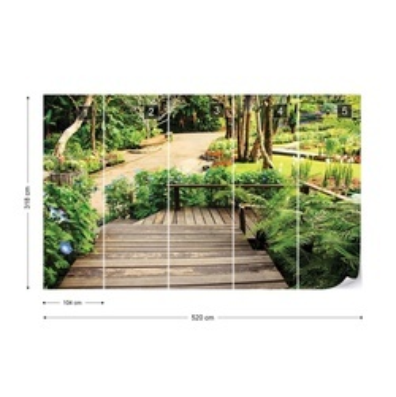 Tropical Path Photo Wallpaper Wall Mural