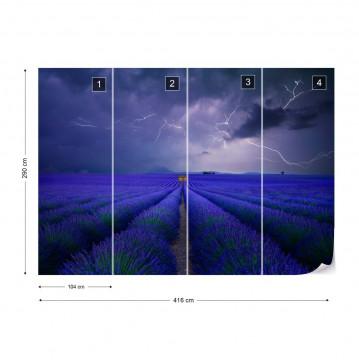 Wetter Im Lavendelfeld Photo Wallpaper Mural