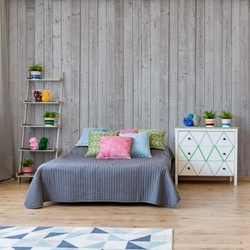 Wood Planks Grey Photo Wallpaper Wall Mural