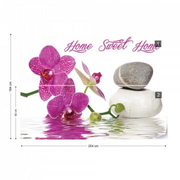 Zen Orchids Flowers Spa Stones Photo Wallpaper Wall Mural