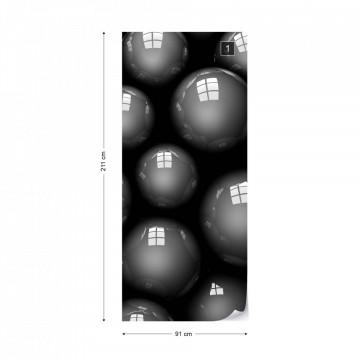3D Grey Balls Photo Wallpaper Wall Mural