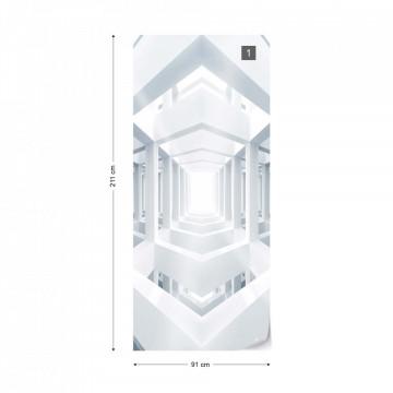 3D Modern Architecture White Photo Wallpaper Wall Mural