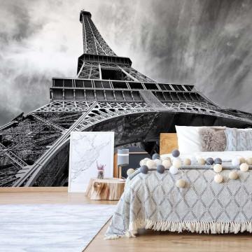 Paris Eiffel Tower Black And White Photo Wallpaper Wall Mural