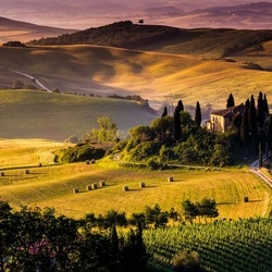 Tuscan Countryside Photo Wallpaper Wall Mural