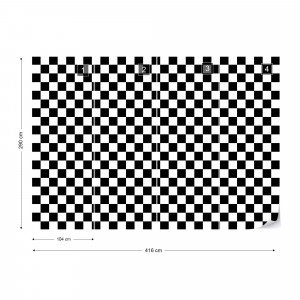 Black And White Checkered Pattern Photo Wallpaper Wall Mural