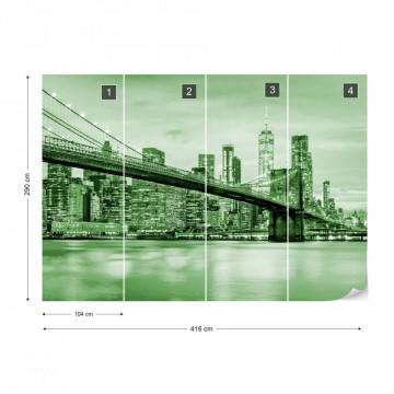 Brooklyn Bridge NYC in Green