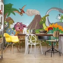 Cartoon Dinosaurs Photo Wallpaper Wall Mural