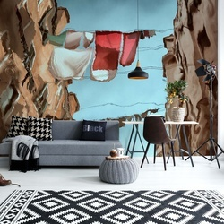 City Mirror Photo Wallpaper Mural