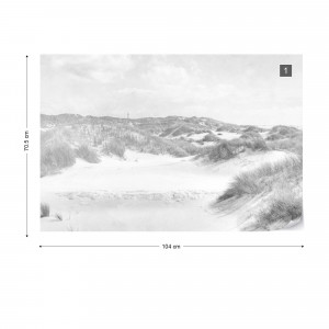 Dune Paradise Faded Vintage in Black & White