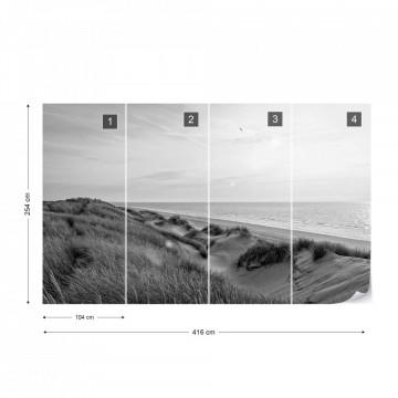 Dune Sunrise Black & White