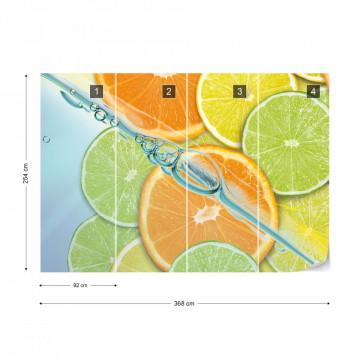 Food Fruits Lime Orange Lemon Photo Wallpaper Wall Mural