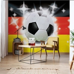 Football German Flag Sparkles Photo Wallpaper Wall Mural