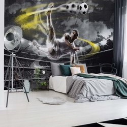 Football Player Stadium Photo Wallpaper Wall Mural