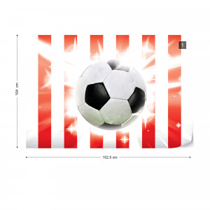Football Red And White Stripes Photo Wallpaper Wall Mural