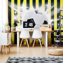 Football Yellow And Black Stripes Photo Wallpaper Wall Mural