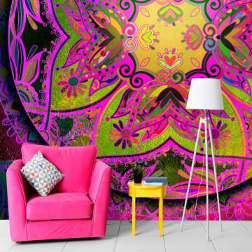 Fototapet autoadeziv - Mandala: Pink Expression
