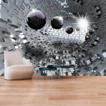 Fototapet autoadeziv - Puzzle - Tunnel