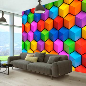Fototapet autoadeziv - Rainbow Geometry